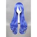 cheap Synthetic Capless Wigs-Synthetic Wig / Cosplay & Costume Wigs Curly Synthetic Hair Blue Wig Women's Short Capless