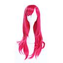 abordables Pelucas Sintéticas de Malla-Pelucas sintéticas / Pelucas de Broma Recto Rosa Pelo sintético Rosa Peluca Mujer Larga Sin Tapa Rosa