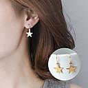 olcso Divat fülbevalók-Női Függők - Zvijezda Alap, aranyos stílus Arany / Ezüst Kompatibilitás Parti / Napi / Hétköznapi