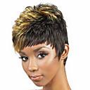 billige Syntetiske parykker-Syntetiske parykker Krøllet Syntetisk hår Svart Parykk Dame Kort Lokkløs Blond