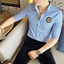 זול חולצות לגברים-פסים צווארון עומד(סיני) רזה חולצה - בגדי ריקוד גברים