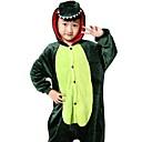 cheap Kigurumi Pajamas-Kid's Kigurumi Pajamas Dragon / Dinosaur Onesie Pajamas Costume Flannel Toison Green Cosplay For Animal Sleepwear Cartoon Halloween Festival / Holiday / Christmas