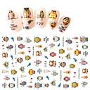 baratos Adesivos de Unhas-1 pcs Autocolantes de Unhas 3D arte de unha Manicure e pedicure Fashion Diário / Etiquetas de unhas 3D