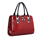 cheap Totes-Women's Bags Patent Leather Tote / Shoulder Bag for Event / Party / Shopping / Formal Beige / Blue / Wine