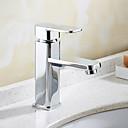 رخيصةأون حنفيات المطبخ-بالوعة الحمام الحنفية - قابل للتدوير الكروم في وسط التعامل مع واحد ثقب واحد