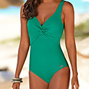 cheap Women's Swimwear & Bikinis-Women's Plus Size Strap One-piece - Solid Colored Briefs