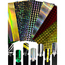 preiswerte Aufkleber für Nägel-1 pcs Modisch Glitter & Poudre / 3D Nagel Sticker Alltag