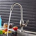 preiswerte Küchenarmaturen-Armatur für die Küche - Moderne / Art déco / Retro / Modern Gebürsteter Nickel Standard Spout Becken / Einhand Ein Loch