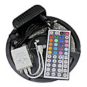 cheap Bath Toys-ZDM 5M 300 x 2835 RGB Waterproof LED Strips Light Flexible and IR 44Key Remote Control with EU/US12V2A Power AC100-240V