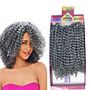 cheap Hair Braids-Braiding Hair Curly Hair Accessory / Human Hair Extensions / Weave Synthetic Hair 3pcs / pack Hair Braids Ombre Short Daily Brazilian Hair