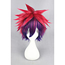 cheap Costume Wigs-short no game no life sora color mixed 14inch anime cosplay wig cs 185a Halloween