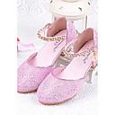 baratos Sapatos de Menina-Para Meninas Sapatos Gliter Verão Conforto Saltos Gliter com Brilho para Prata / Azul / Rosa claro