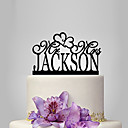 cheap Cake Toppers-Cake Topper Garden Theme / Classic Theme / Rustic Theme Acrylic Wedding / Anniversary / Bridal Shower with OPP
