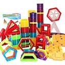 levne Magnetické kostky-Magnetický blok Magnetické dlaždice Stavební bloky 98 pcs Auto Robot Ruské kolo kompatibilní Legoing Magnetické Chlapecké Dívčí Hračky Dárek