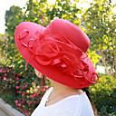 hesapli Parti Başlıkları-Kadın's Sevimli Tatil Polyester Tokalı Şapka Güneş şapkası - Büzgülü, Solid