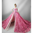billige Barbie-påklædning-Fest/Aften Kjoler Til Barbiedukke Bomuld Terylene Kjole Til Pigens Dukke Legetøj