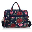 cheap Cases, Bags & Straps-13.3 14.1 15.6 inch Peony Pattern Laptop Shoulder Bag with Strap Hand Bag for Macbook/Surface/Dell/HP/Samsung/Sony etc