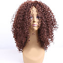 cheap Synthetic Capless Wigs-Synthetic Wig Curly Synthetic Hair African American Wig Brown Wig Women's Medium Length Capless