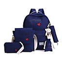 baratos Mocassins Femininos-Mulheres Bolsas Tela de pintura Mochila Escolar Personagem Cinzento / Azul Marinho / Azul Claro