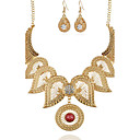 preiswerte Modische Ohrringe-Damen Synthetischer Diamant Schmuck-Set - Blume Retro Einschließen Halskette / Ohrringe Gold / Silber Für Party Besondere Anlässe Geschenk