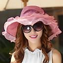 رخيصةأون أحذية لاتيني-قبعة شمسية خملة الجاكوارد نسائي شيفون, عطلة / الصيف