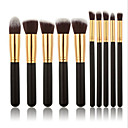 cheap Makeup Brush Sets-10pcs Makeup Brushes Professional Blush Brush Foundation Brush Eyebrow Brush Eyeshadow Brush Concealer Brush Contour Brush Makeup Brush Set Powder Brush Synthetic Hair Wood