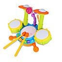 baratos Instrumentos de Brinquedo-Iluminação de LED Bateria Instrumento Musical de Brinquedo Bateria Jazz Drum Crianças