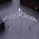 cheap Party Headpieces-Crystal Rhinestone Alloy Tiaras Headbands Hair Pin 1 Wedding Special Occasion Outdoor Headpiece