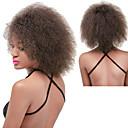 billige Hårstykker-Syntetiske parykker Krøllet / Afro Syntetisk hår Natural Hairline / Afro-amerikansk paryk Rød / Sort / Brun Paryk Dame Lang Lågløs