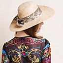 baratos Acessórios de Cabelo-Têxtil de algodão Têxtil Chapéus Chapéu Estilo clássico feminino