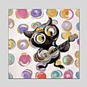 olcso Állatos festmények-Hang festett olajfestmény Kézzel festett - Állatok Klasszikus Modern Tartalmazza belső keret