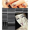 billige Negleklistremerker-30 pcs 3D Negle Stickers Neglekunst Manikyr pedikyr Mote Daglig / 3D Nail Stickers