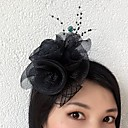 cheap Party Headpieces-Tulle / Net Fascinators / Flowers with 1 Wedding / Special Occasion Headpiece