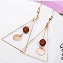 cheap Rings-Women's Geometric Drop Earrings - Simple Style White / Black / Coffee For Daily