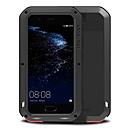 halpa Puhelimen kuoret & Näytön suojakalvot-Etui Käyttötarkoitus Huawei Vedenkestävä Iskunkestävä Suojakuori Yhtenäinen väri Kova Metalli varten P10 Plus P10 Huawei