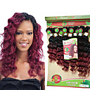 cheap LED Spot Lights-8-14inch 8 pcs /lot Brazilian deep wave ombre burgundy Virgin Hair bundles brazilian Hair Weave Bundles cheap human hair weft