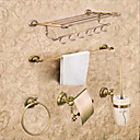 זול אמבטיה אביזרים הגדר-סט של אביזרים לאמבטיה ניאוקלאסי פליז 5pcs - אמבטיה מחזיקים לנייר טואלט / בר מגדל / טבעת הטבעת