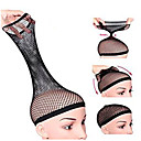 cheap Anime Cosplay Wigs-5pcs lot new fishnet wig cap stretchable hair net snood wig cap net weaving cap open end hair tools