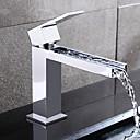 baratos Torneiras de Banheiro-Torneira pia do banheiro - Separada Cromado Conjunto Central Monocomando e Uma Abertura