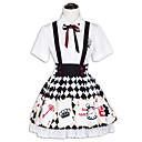 رخيصةأون Lolita فساتين-أميرة بغي لوليتا نسائي ملابس تأثيري أسود كم قصير قصير ازياء