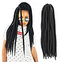 """economico Onde di capelli veri-Trecce Twist L'Avana Kanekalon Nero / vino scuro Extensions per capelli 24 """" capelli Trecce"""