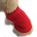 cheap Pet Christmas Costumes-Dog Sweater Dog Clothes Solid Brown Red Blue Costume For Pets