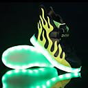 preiswerte Jungenschuhe-Jungen Schuhe Tüll Frühling Komfort / Leuchtende Sohlen / Leuchtende LED-Schuhe Sneakers LED für Schwarz / weiss / Schwarz / Grün / Weiß