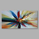 olcso Tájképek-Hang festett olajfestmény Kézzel festett - Absztrakt Modern Vászon