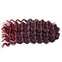 billige Hårfletter-Krøllet Deep Twist Heklet 100% kanekalon hår Hairextensions med menneskehår Krøllede fletter Hårfletter Daglig
