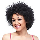 cheap Synthetic Capless Wigs-Synthetic Wig Curly Synthetic Hair Black Wig Women's Short Capless Natural Black