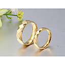 cheap Party Supplies-Couple's Couple Rings / Band Ring / Ring - 18K Gold Plated Classic, Simple Style, Elegant 5 / 6 / 7 Gold For Wedding / Party / Anniversary / Birthday / Graduation / Daily