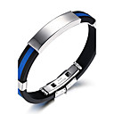 cheap Men's Bracelets-Men's ID Bracelet - Titanium Steel Rock, Fashion, Hip-Hop Bracelet White / Red / Blue For Birthday / Gift / Sports