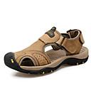 cheap Men's Sandals-Men's Light Soles Cowhide Summer Sandals Brown / Dark Brown / Khaki