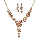 preiswerte Modische Halsketten-Damen Schmuck-Set - Blume Modisch, Euramerican Einschließen Gold / Weiß / Grau Für Party